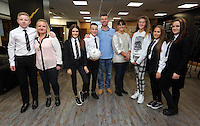 Pictured: The winners, pupils from Pentrehafod School Wednesday 25 November 2015<br /> Re: Schools take part in this year's Premier League Enterprise vent at Penderyn Suite, Liberty Stadium, Swansea, UK