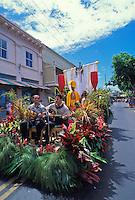 The Royal Court participates in the annual King Kamehameha Day parade on Front Street in Lahaina.
