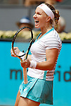 Svetlana Kuznetsova during Madrid Open Tennis 2015 match.May, 4, 2015.(ALTERPHOTOS/Acero)