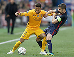 Atletico de Madrid's Gabi Fernandez (r) and FC Barcelona's Neymar Santos Jr during Champions League 2015/2016 Quarter-Finals 2nd leg match. April 13,2016. (ALTERPHOTOS/Acero)