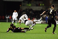 Pictured: Jordi Gomez of Swansea City in action <br /> Re: Coca Cola Championship, Swansea City Football Club v Queens Park Rangers at the Liberty Stadium, Swansea, south Wales 21st October 2008.