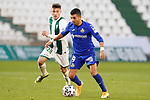 Cordoba CF's Alberto del Moral (l) and Getafe CF's Angel Rodriguez during Spanish King's Cup 2nd Round match. January 5,2020. (ALTERPHOTOS/Acero)
