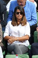 Karine Ferri seen watching tennis during Roland Garros tennis open 2016 on may 27 2016.