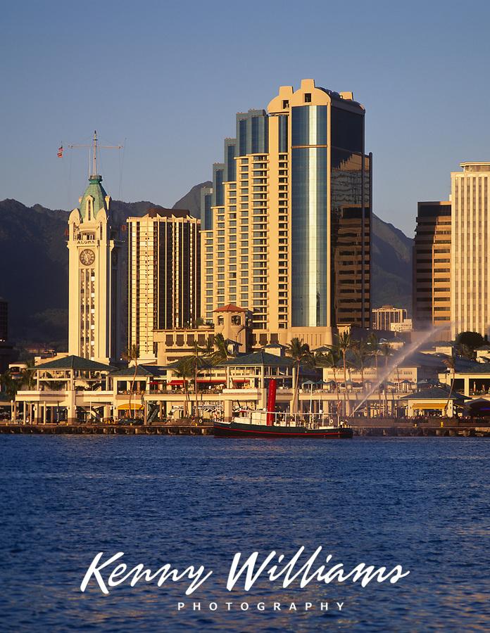 Aloha Tower Marketplace, Honolulu, Oahu, Hawaii, HI, USA.