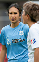 WASHINGTON D.C., ON MARCH 28, 2021 - MARCH 28: Washington, D.C.- March 28: Sky Blue FC defender Caprice Dydasco (3) during a match between the Washington Spirit and Sky Blue FC at Audi Field, in Washington D.C., on March 28, 2021 during a game between Sky Blue FC and Washington Spirit at Audi Field, in Washington D.C., on March 28, 2021 in Washington D.C., on March 28, 2021.