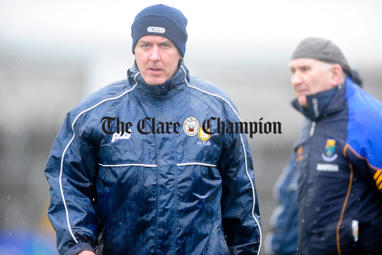 Frank Doherty and Mick O'Dwyer.Pic Arthur Ellis. NFL Clare v Wicklow at Cusack Park.Pic Arthur Ellis.
