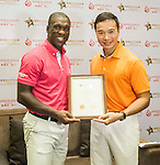 Mission Hills Celebrity Pro-Am on 24 October 2014, in Haikou, China. Photo by Mike Pickles / Power Sport Images