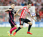 Athletic de Bilbao's Markel Susaeta (r) and FC Barcelona's Denis Suarez during La Liga match. August 28,2016. (ALTERPHOTOS/Acero)
