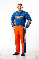 Feb 8, 2018; Pomona, CA, USA; NHRA pro stock driver Alex Laughlin poses for a portrait during media day at Auto Club Raceway at Pomona. Mandatory Credit: Mark J. Rebilas-USA TODAY Sports