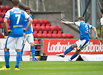 St Johnstone v Sunderland…15.07.17… McDiarmid Park… Pre-Season Friendly<br />Steven MacLean blasts home an in-dirvet free kick for the first goal<br />Picture by Graeme Hart.<br />Copyright Perthshire Picture Agency<br />Tel: 01738 623350  Mobile: 07990 594431