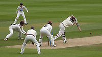 Hashim Amla of Surrey in batting action during Surrey CCC vs Somerset CCC, LV Insurance County Championship Group 2 Cricket at the Kia Oval on 13th July 2021