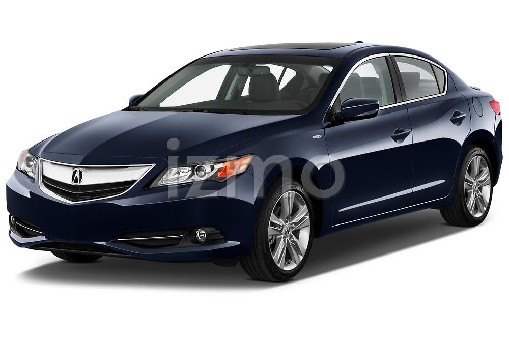 2013-2014 Acura ilx hybrid 5 Door Sedan angular front stock photos of front three quarter view