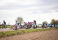 crash at the back of the peloton<br /> <br /> 55th Amstel Gold Race 2021 (1.UWT)<br /> 1 day race from Valkenburg to Berg en Terblijt; raced on closed circuit (NED/217km)<br /> <br /> ©kramon