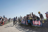 Peter Sagan (SVK/Bora-Hansgrohe), procycling followed by Zdenek Stybar (CZE/Quick Step Floors)<br /> <br /> 115th Paris-Roubaix 2017 (1.UWT)<br /> One Day Race: Compiègne › Roubaix (257km)