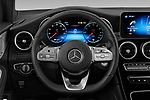 Car pictures of steering wheel view of a 2020 Mercedes Benz GLC AMG-Line 5 Door SUV Steering Wheel