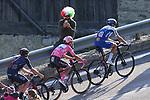 Giro d'Italia 2020 Cycling Tour of Italy on 21/10/2020 in Madonna di Campiglio, Italy. Stage 17th between Bassano del Grappa and Madonna di Campiglio. In action Fausto Masnada (Ita) ahead of Joao Almeida (POR) Deceuninck-QuickStep