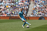 ST PAUL, MN - JULY 18: Osvaldo Alonso #6 of Minnesota United FC during a game between Seattle Sounders FC and Minnesota United FC at Allianz Field on July 18, 2021 in St Paul, Minnesota.