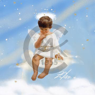 Donald, CHILDREN, paintings, Angel of Patience v1, USZO86,#k# Kinder, niños, illustrations, pinturas angels ,everyday