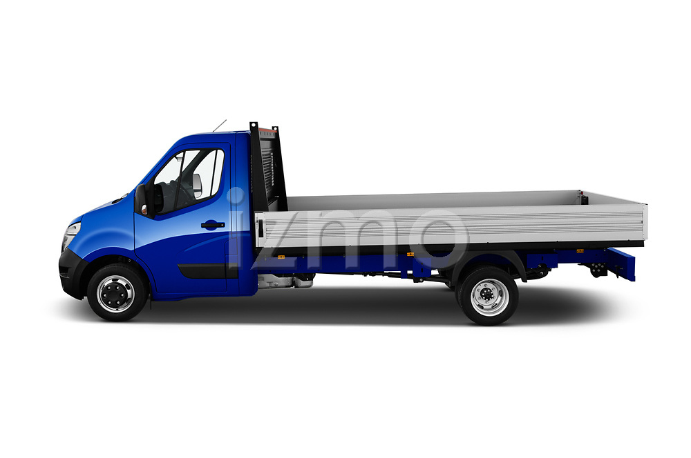 Car Driver side profile view of a 2021 Nissan NV400 Acenta 2 Door Chassis Cab Side View