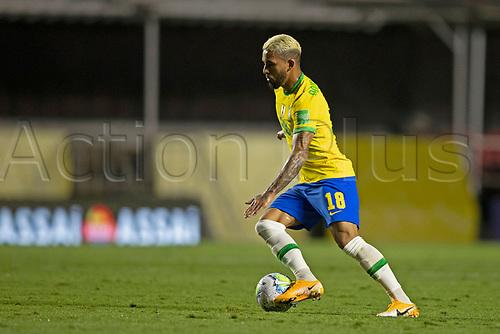 13th November 2020; Morumbi Stadium, Sao Paulo, Sao Paulo, Brazil; World Cup 2022 qualifiers; Brazil versus Venezuela; Douglas Luiz of Brazil