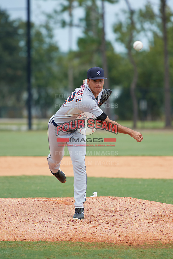 Detroit Tigers pitcher Jesus Rodriguez (72) during an Instructional League instrasquad game on September 20, 2019 at Tigertown in Lakeland, Florida.  (Mike Janes/Four Seam Images)