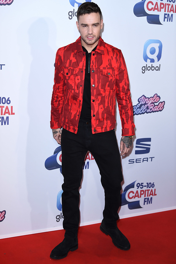 Liam Payne<br /> at the 2019 Jingle Bell Ball, O2 Arena, London.<br /> <br /> ©Ash Knotek  D3544 07/12/2019