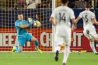 CARSON, CA - SEPTEMBER 15: David Bingham #1 David Bingham #1 of the Los Angeles Galaxy makes a save during a game between Sporting Kansas City and Los Angeles Galaxy at Dignity Health Sports Complex on September 15, 2019 in Carson, California.
