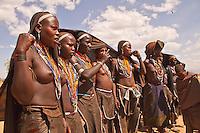 Erbore girls dance in Weyto valley Ethiopia