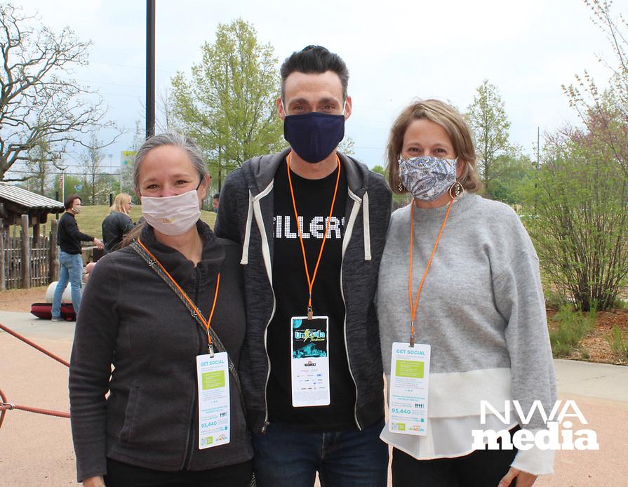 Kassie Misiewicz (from left), Jason and Jill Suel<br /> Amazeum UnGala<br /> (NWA Democrat-Gazette/Carin Schoppmeyer)