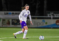 Laura De Neve (8) of Anderlecht pictured during a female soccer game between  Racing Genk Ladies and RSC Anderlecht on the 16 th matchday of the 2020 - 2021 season of Belgian Scooore Womens Super League , friday 12 th of March 2021  in Genk , Belgium . PHOTO SPORTPIX.BE   SPP   SEVIL OKTEM