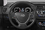 Car pictures of steering wheel view of a 2016 Hyundai i20 ACTIVE Pop 5 Door Hatchback Steering Wheel