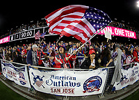 San Jose, CA - Sunday November 12, 2017: American Outlaws during an International friendly match between the Women's National teams of the United States (USA) and Canada (CAN) at Avaya Stadium.