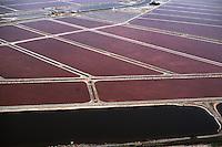 Europe/France/Languedoc-Roussillon/30/Gard/Aigues Mortes: Grands salins du midi - Vue aérienne