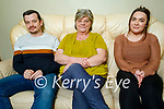 Eileen Horan from Stacks Villas relaxing at home, who retired after 25 years for the HSE.<br /> L to r: Niall and Eileen Horan and Aisling Muckian.