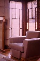 Frank Lloyd Wright: John Storer House, interior. Photo April , 2000.
