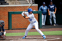 Duke Blue Devils designated hitter Rudy Maxwell (26) at bat against the Liberty Flames in NCAA Regional play on Robert M. Lindsay Field at Lindsey Nelson Stadium on June 4, 2021, in Knoxville, Tennessee. (Danny Parker/Four Seam Images)