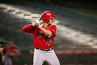 AZL Angels first baseman Dalton Blumenfeld (12) at bat against the AZL White Sox on August 14, 2017 at Diablo Stadium in Tempe, Arizona. AZL Angels defeated the AZL White Sox 3-2. (Zachary Lucy/Four Seam Images)