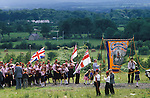 Orangeman Day parade. Protestant July 4th parade.