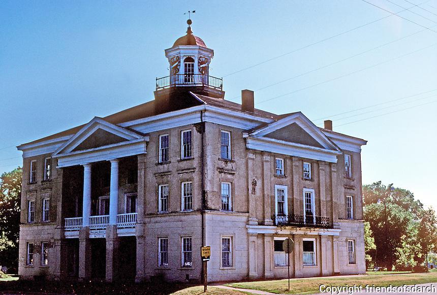 Bishop Hill: Steeple Building, 1853. Photo '77.