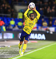 28th September 2021; Cardiff City Stadium, Cardiff, Wales;  EFL Championship football, Cardiff versus West Bromwich Albion; Darnell Furlong of West Bromwich Albion takes the throw-in