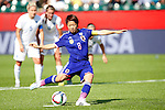 Aya Miyama (JPN), JULY 1, 2015 - Football / Soccer : Aya Miyama of Japan scores the opening goal from a penalty shot during the FIFA Women's World Cup Canada 2015 Semi-final match between Japan 2-1 England at Commonwealth Stadium in Edmonton, Canada. (Photo by AFLO)