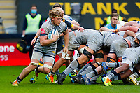 27th March 2021; Ricoh Arena, Coventry, West Midlands, England; English Premiership Rugby, Wasps versus Sale Sharks; Cobus Wiese of Sale Sharks breaks from the base of a scrum