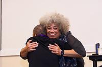 Angela Davis, activist author and professor speaking on activism, mass incarceration, violence against women, international human rights and racism at Jacob Sleeper Auditorium Boston University 2.9.19