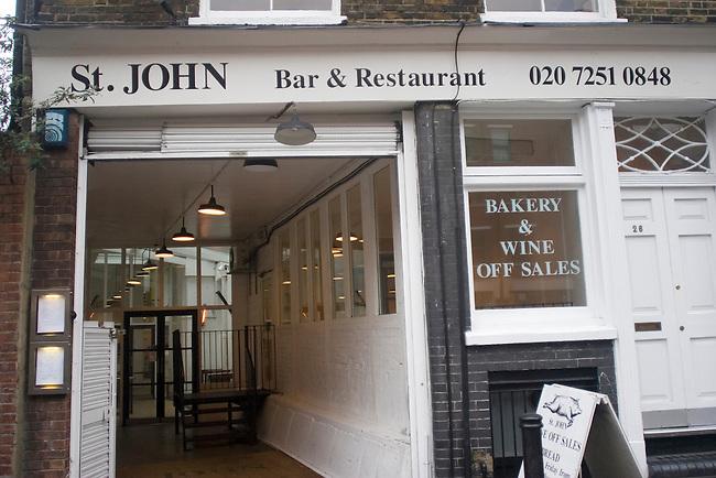 Exterior, St. John Restaurant, Hoxton, London, Great Britain, Europe