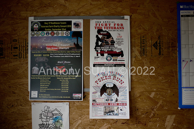 Jacksonville, Florida<br /> November 5, 2013<br /> <br /> Veteran's sustainable farm founded by Purple Heart veteran Adam Burke and managed by Afghan and Iraqi veteran Steve Ellseberry.<br /> <br /> Veterans poster in the washing room.