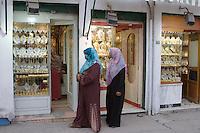 Tripoli, Libya - Libyan Women Shopping for Gold Jewelry, Tripoli Medina (Old City).