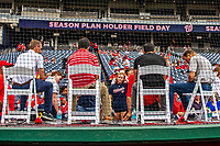 22 September 2018: Members of the Washington Nationals radio and television broadcast media answer question from the fans on Season Ticket-Holder Appreciation Day, prior to a game against the New York Mets at Nationals Park in Washington, DC. The Nationals shut out the Mets 6-0 in the 3rd game of their 4-game series. Mandatory Credit: Ed Wolfstein Photo *** RAW (NEF) Image File Available ***