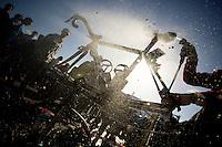 De Ronde van Vlaanderen 2012..cleaning up for the next race