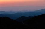 Italie. Italia. Sardaigne. Sardinia.Crépuscule sur les hauteurs de la Sardaigne