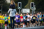 © Joel Goodman - 07973 332324. 15/10/2017 . Manchester , UK . Athletes taking part in the Greater Manchester Half Marathon in Old Trafford . Photo credit : Joel Goodman